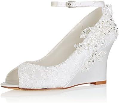 Emily Bridal 440 8 2 Women S Wedding Shoes Peep Toe 3 15 Inches