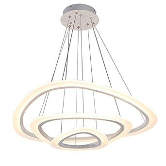 Hochwertig Euroton 2138 3 Ringe LED Pendelleuchte Mit Fernbedienung Lichtfarbe Und  Helligkeit Einstellbar Acryl Schirm