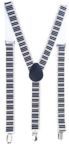 Price comparison product image Hipster Piano Key Suspenders