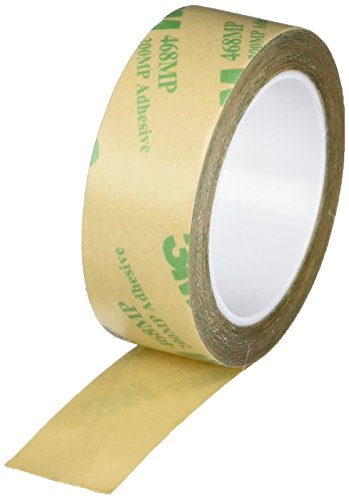 3M 3/4-5-468MP (CASE of 10) Adhesive Transfer Tape 468MP, 0.75'' Wide, 5 yd. Length, Clear (Pack of 10) by 3M