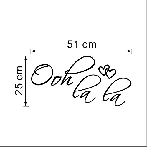 Oh La La Paris Wall Sticker Quotes Room Decorations Vinyl Wall Decal (Oh Sticker Wall La La)
