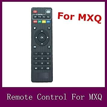 MU Control Remoto para MXQ Android 4.4 Smart TV Box KODI IPTV Negro TV Box Wireless: Amazon.es: Electrónica
