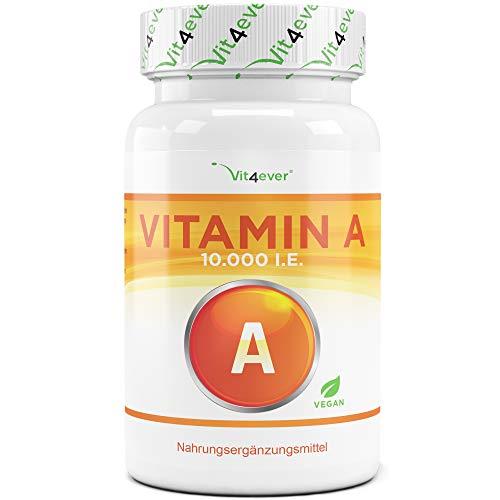 Vit4ever® Vitamin A - 10.000 I.E. (3000 µg) - 240 Tabletten - Einführungspreis - Retinylacetat - Hochdosiert - Vegan
