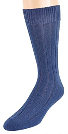 Marcoliani Men's Mid-Calf Luxury Cashmere Socks from Italy One Pair Cadet