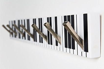 Kare 30880 - Perchero de pared, diseño de teclas de piano ...