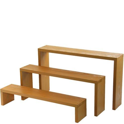 Welcome wood ウッドステージ90型 3段タイプ   色はブライトブラウン(BB)  【完成品】 組み立てる必要なし!! 個別に移動できるのでとっても便利!! B00F24Q2FG 90cm3段タイプ|BBブライトブラウン BBブライトブラウン 90cm3段タイプ