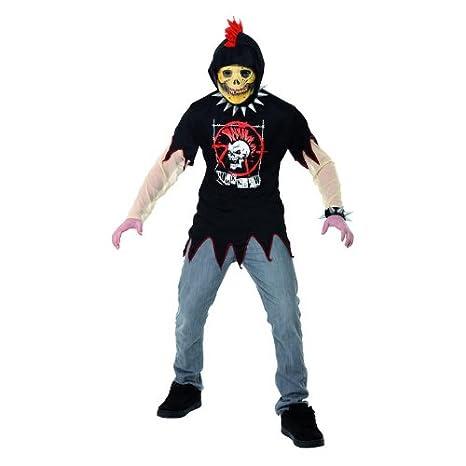 Smiffys - Disfraz de esqueleto punk (talla joven): Amazon.es ...