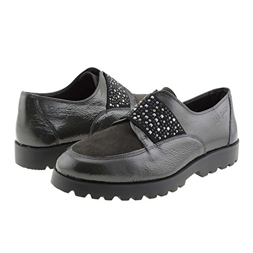 Mocasines piel 23392 24 Horas Talla: 38 Color: GRIS: Amazon.es: Zapatos y complementos