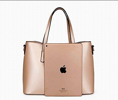 mode porte sac PU la de de sac mis à carte main cuir femmes Bronze1 Tibes épaule 4pcs monnaie de R7gqOxqAw