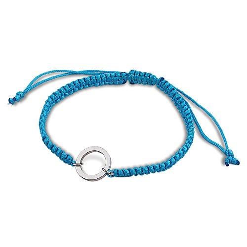 Of Bracelet Friendship Circle (KUIYAI Eternity Circle Karma Bracelet Macrame Friendship Bracelet (Blue))