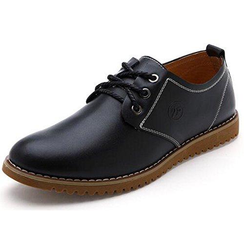 Herren bekleidung Derby Lederschuhe Businessschuhe Anzugschuhe Schnürhalbschuhe Casual Oxfords Oxfords Oxfords Leder Schuhe Schwarz 972f6e