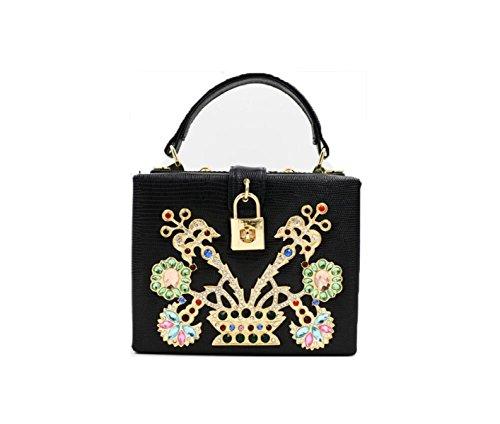 Forme élégant De Black Main Main Diamant Sac Sac Main Style élégant En Sacs Black D'embrayage GSHGA Pour à Sac à Sac Femme2 à n4R8OzSqv