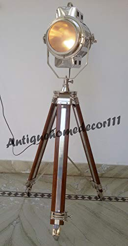 Home Theater Lamps - Theater Nautical Decorative Spotlight Hollywood Lamp with Heavy Tripod Big Lamp