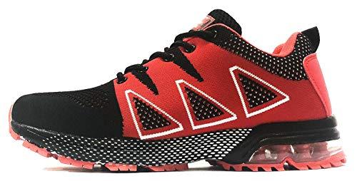 Deportes tqgold Negro para Zapatos Correr Interior Asfalto Zapatillas Exterior Zapatillas de de Montaña Rojo Running HHqwnERSg