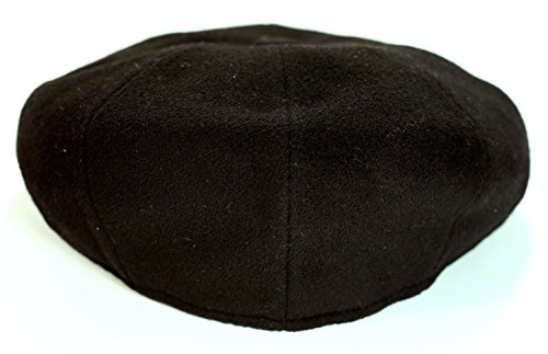Levine Hat Cashmere 'Classico' 8-Panel newsboy Cap (XXLarge (Fits 7 3/4 To 7 7/8), Black) by Levine Hat (Image #4)