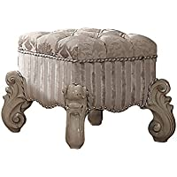 ACME Versailles Bone White Vanity Stool
