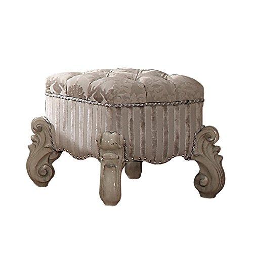 ACME Versailles Bone White Vanity Stool by Acme Furniture