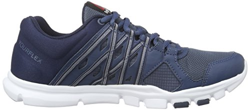 Reebok Yourflex Train 8.0, Zapatillas de Gimnasia para Hombre Azul  (Royal Slate / Collegiate Navy / White)