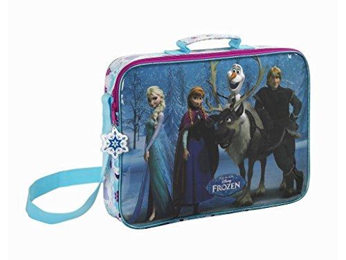 Disney S137 - Bolso bandolera de Frozen: el reino del hielo, azul y blanco, 38 x 28 x 10 cm