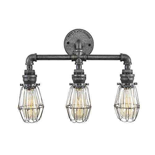 West Ninth Vintage Iron Pipe Wall Vanity Light w/Adjustable Style - West Ninth Vintage Iron Pipe Wall Vanity Light W/Adjustable Style