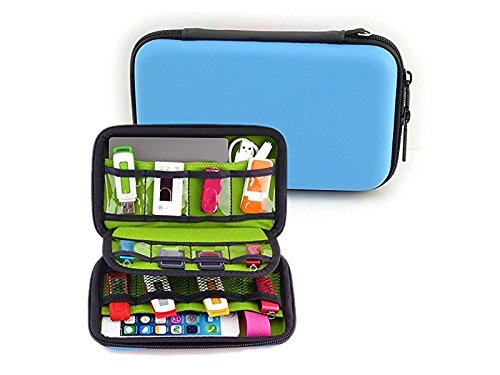 OVIIVO Memory Cases Electronic Accessories Organizers for U Disk, SD Card, USB Flash Drives, Power Banks and Hard Disk (Blue,Green) by OVIIVO