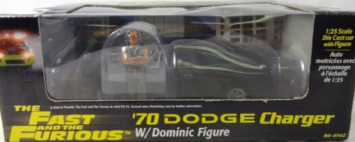 The Fast and the Furious '70 Dodge Charger 1/25th Die Cast Car w/ Dominic Figure Adult Collectible Set (2002 Release) by Revell (Image #2)