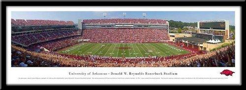 Campus Images University of Arkansas Framed Stadium Print Frame