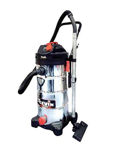 cevik ce-pro50X T-Vacuum Cleaner Industrial Electric. 1400W. 50lt. Container Stainless Steel. Accessories Included. Tele comandado
