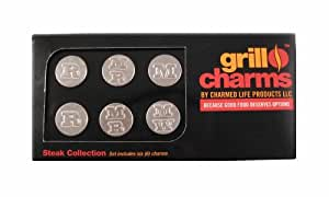 Charmed Life Products 6-Piece Grill Charms Set, The Steak Collection