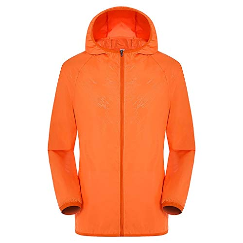 Tantisy ♣↭♣ Workwear Equipped Cooling Jacket Fan Pack for Summer Outdoors Air-Conditioned Clothes Unisex Available Orange]()