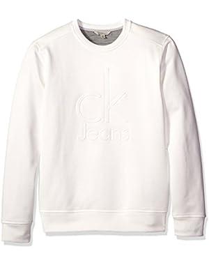 Calvin Klein Jeans Men's Embossed Logo Crew Neck Sweatshirt