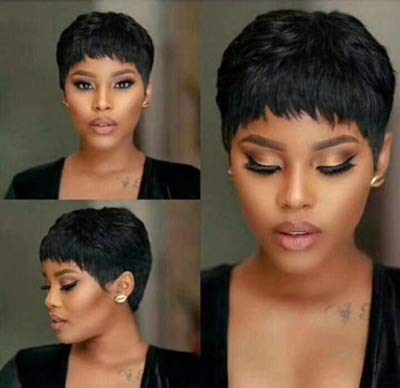 Short Pixie Cut Hair Wig Short Black Hairstyles Synthetic Wigs For Women Popular Fashion Wigs Heat Resistant Hairpieces Women's Wig (FCHW-01)