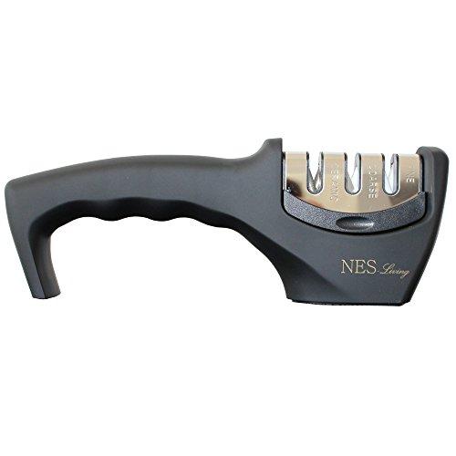 NES-Living 3-Stufen Messerschärfer | hochwertiger Messerschleifer | edles Design