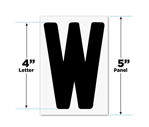 "- Changeable Outdoor Sign Letters 4"" Portable Flex Letters 273 Count Helvetica Font 5"" Panel"