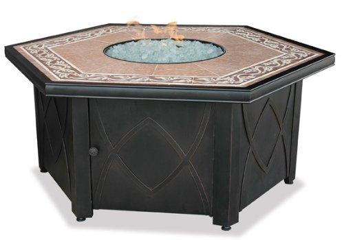 Endless Summer, GAD1380SP, LP Gas Outdoor Firebowl with Decorative Tile Mantel