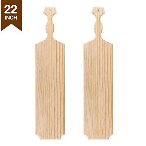 Greek Paddle - Battife 22'' Inch Greek Sorority Paddle Unfinished Wooden Pine Fraternity Paddles - 100% Solid Wood Paddle [2Pack]