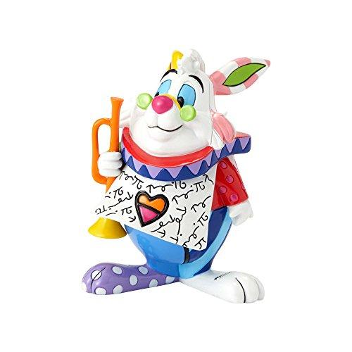 "(Enesco Alice in Wonderland ""White Rabbit"" from Disney by Britto Line Figurine 2.95 Inches Multicolor )"