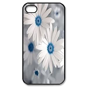 Qxhu white daisy Protective Snap On Hard Plastic Case for Iphone4,4S