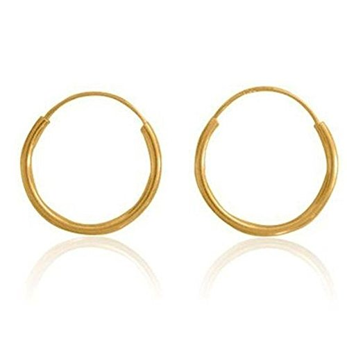 14k Gold Filled Small Endless Hoop Earrings for Ears, Cartilage, Nose or Lips, (0.8