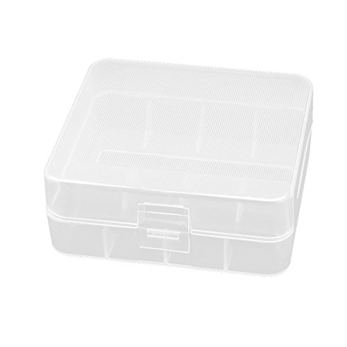 uxcell Hard Plastic Box Holder Storage Box Container for 2 x