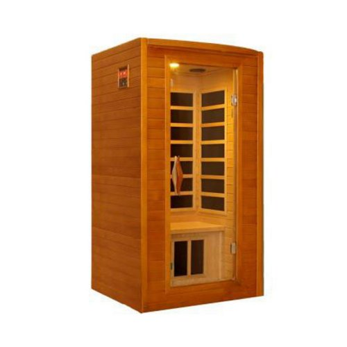 Better Life BL 6202 2 Person Carbon Infrared Sauna, 47 by 41 by 75-Inch, Natural Hemlock Wood Finish by Better Life