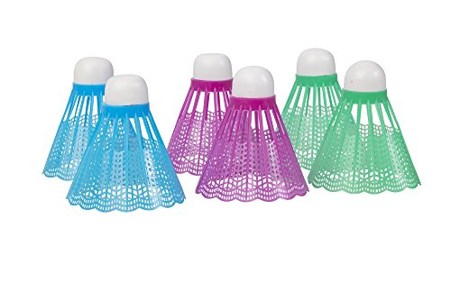 Triumph Replacement Badminton Shuttlecocks (6-Pack, White)