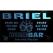 q05412-b BRIEL Family Name Home Bar Beer Mug Cheers Neon Light Sign