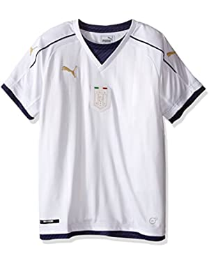 Men's Figc Italia Kids Tribute Away Shirt Replica