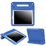 HDE Kids Case for iPad Air 1 and 2 - Shockproof Bumper Kid Friendly Cover w Adjustable Handle Stand (Blue)