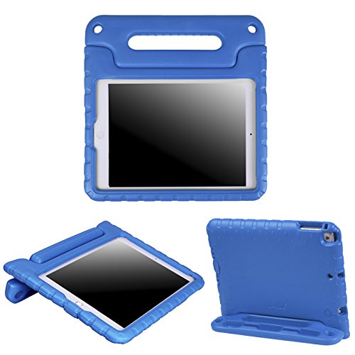 HDE Kids Case for iPad Air 1 and 2 - Shockproof Bumper Kid Friendly Cover w/ Adjustable Handle Stand (Blue) (Case Computer Hde)