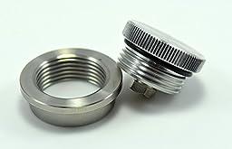 BungKing Vented Aluminum Filler Cap with Mild Steel Weld in Bung