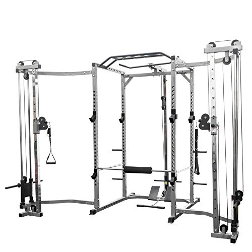 - Valor Fitness BD-41 Heavy Duty Power Cage with Multi-Grip Chin-Up Bar, LAT Pull and Cable Crossover Attachment