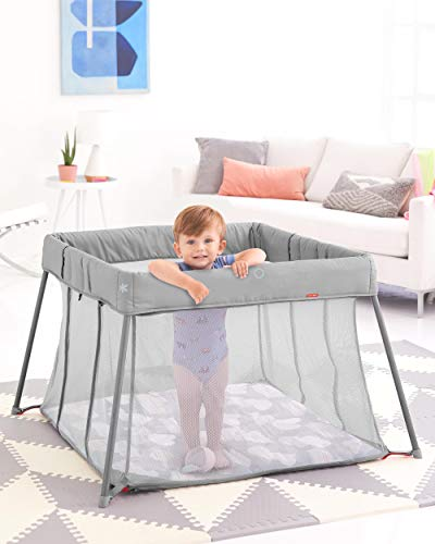41XdICfRaSL - Skip Hop Portable Playard: Play To Night Expanding Travel Crib To Playard