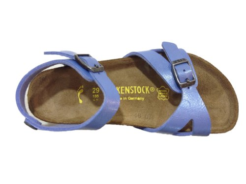 Birkenstock  Rio, Sandales pour garçon - Bleu - Graceful Riviera Blue, 11 UK